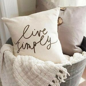 LIVE SIMPLY white + black super-soft pillow cover